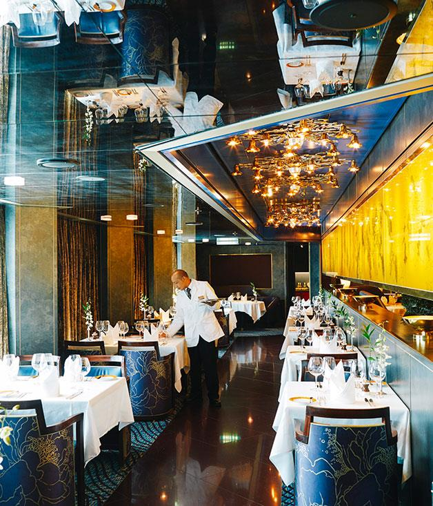 **Holland America Cruise Line** The Pinnacle Grill on the MS Noordam, a member of the Holland America Line's Vista class.  Photography by Chris Chen.