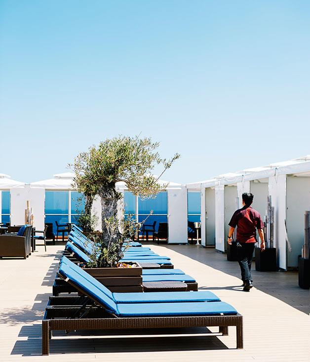 **Holland America Cruise Line** Cabanas on the Sports deck of Holland America's MS Noordam cruise line.  Photography by Chris Chen.
