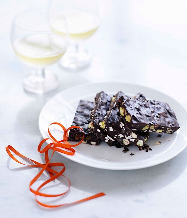 **Dark chocolate bark**