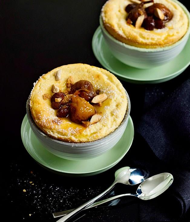 **Baked ricotta with amaretti crumble**