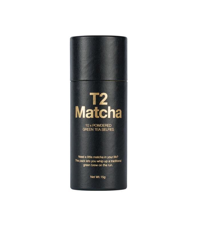 "**T2** Selfies have never been so Zen. Conveniently packaged in single servings, T2's Matcha Selfies make a quick matcha ceremony possible on the run. _Matcha Powdered Green Tea Selfies, $22 for 15gm, [t2tea.com](/<a href="" http:/t2tea.com/"" rel=""nofollow""> t2tea.com</a>)_"