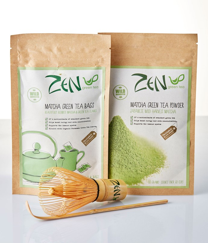 "**Zen Green Tea** Prepare your matcha with the correct tools from this Bamboo Whisk, Scoop & Matcha Set. The chasen (aka whisk) and chashaku (the scoop) are hand-carved from single pieces of bamboo. Once you've got the kit, look to Zen's Japanese wild-harvest matcha Powder; it's sourced from small, sustainable, family-run tea farms in Kyoto and has a sweet spring flavour or, for a no-fuss alternative, Zen's wild-harvested organic matcha tea bags. _Bamboo Whisk, Scoop & Matcha Set, $59, Matcha Green Tea Powder, $24.50 for 60gm, Matcha Green Tea Bags, $9.95 for 30gm, [zengreentea.com.au](/<a href="" http:/zengreentea.com.au/"" rel=""nofollow""> zengreentea.com.au</a>)_"