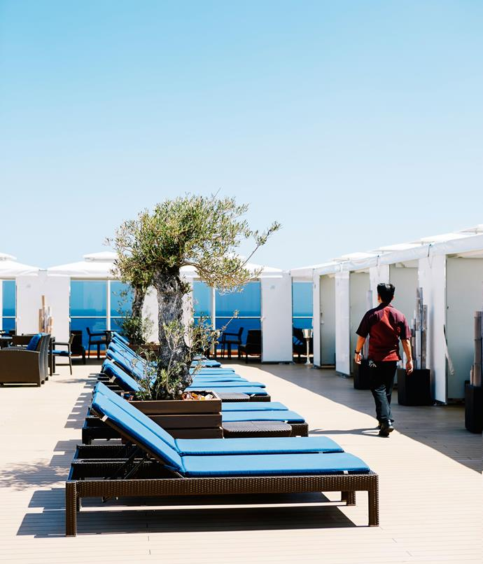 **Cabanas on the Sports deck**