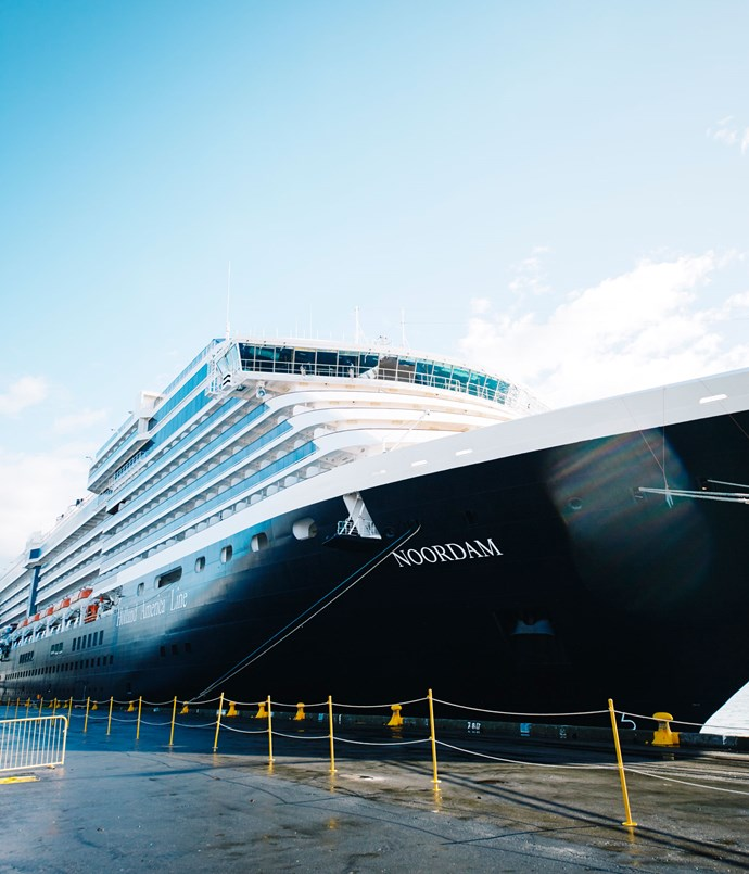 **The Noordam docked at Wellington**