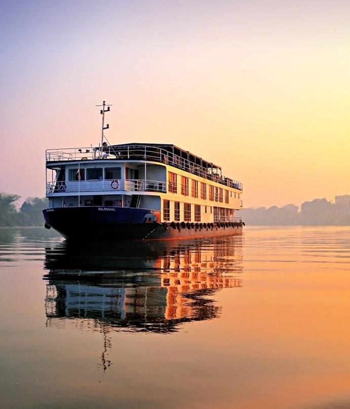 **Travelmarvel** Travelmarvel's RV _Rajmahal_ on the Ganges.