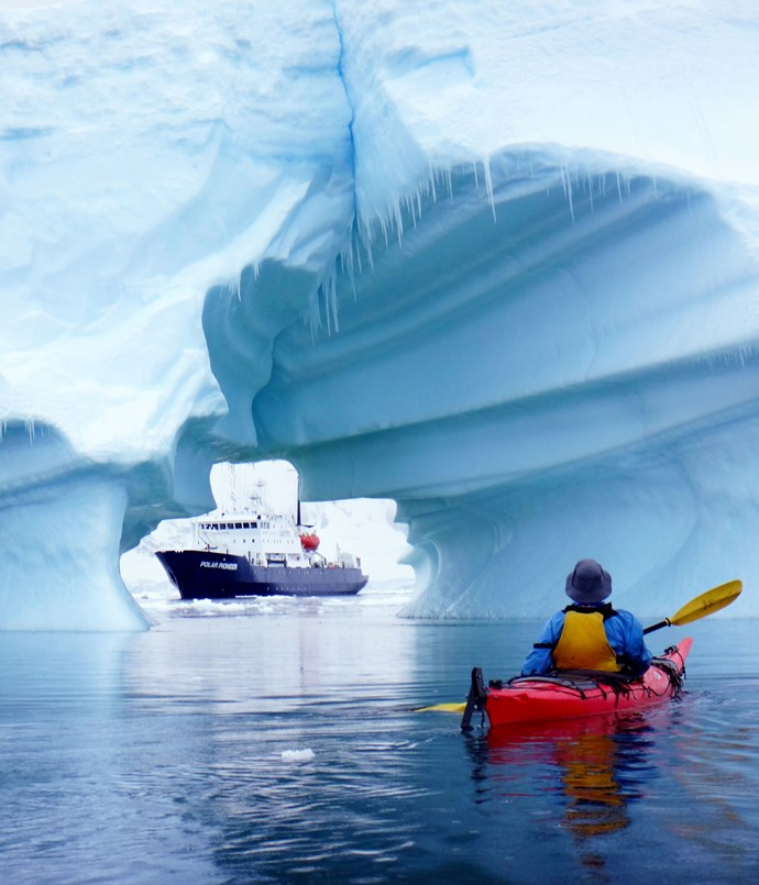 **Aurora Expeditions** Kayaking in Antarctica with Aurora Expeditions.