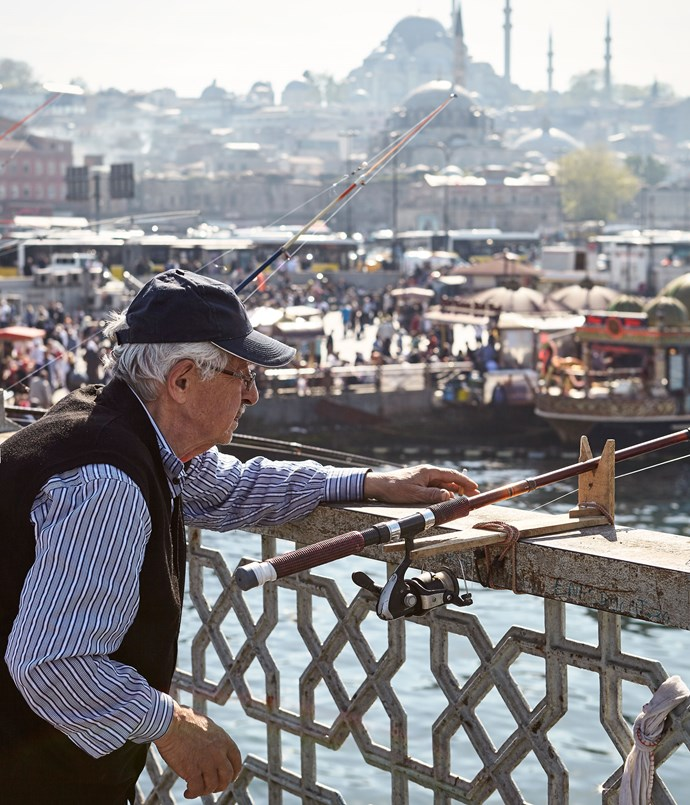 **Local fishing off the Galata Bridge, Istanbul**