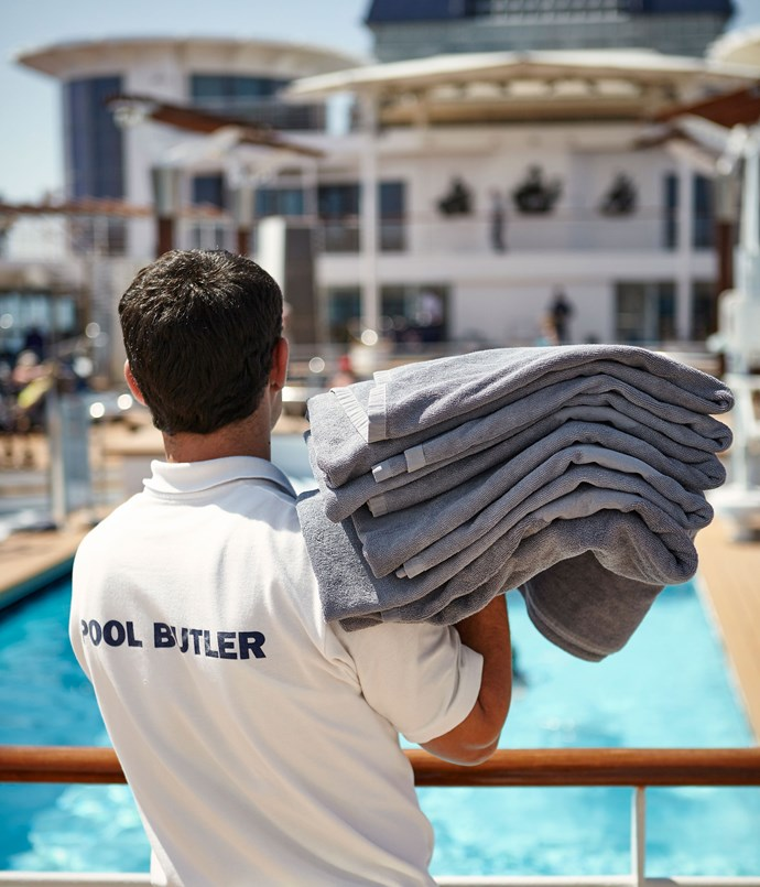 **Pool butler on board Celebrity Constellation**
