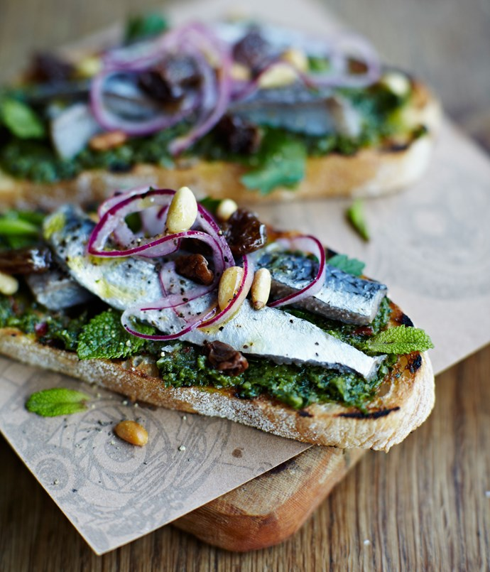 Jamie Oliver's sardine bruschetta