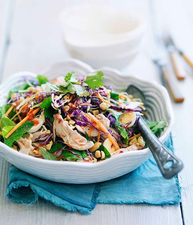 **Aunty Three's Saigon chicken and cabbage salad with quail eggs**