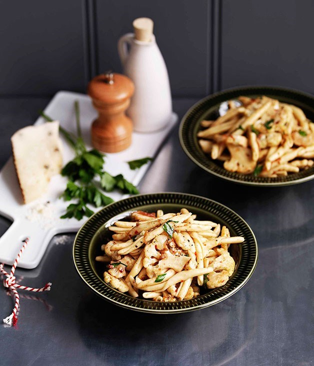 **Cauliflower, anchovy and chilli strozzapreti**