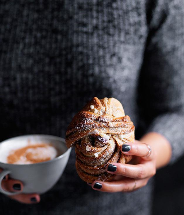 "**[Sweet cinnamon buns](http://www.gourmettraveller.com.au/recipes/browse-all/sweet-cinnamon-buns-12482 target=""_blank"")**"