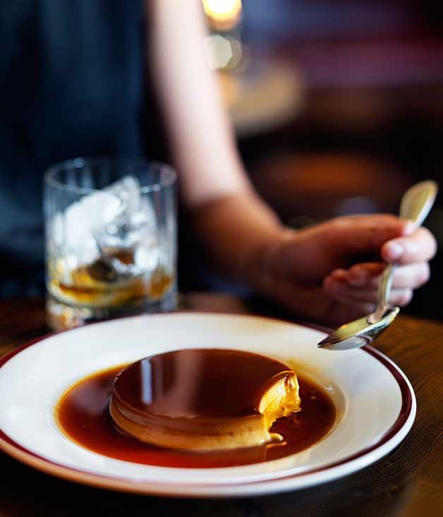 "**[Restaurant Hubert's crème caramel](https://www.gourmettraveller.com.au/recipes/chefs-recipes/creme-caramel-8419|target=""_blank"")**"