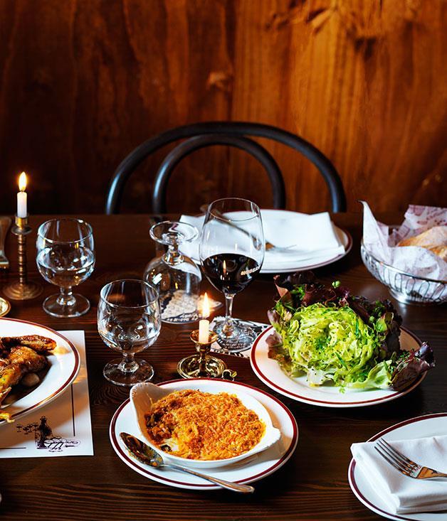 "[**Restaurant Hubert's kimchi gratin**](http://www.gourmettraveller.com.au/recipes/chefs-recipes/kimchi-gratin-8414|target=""_blank"")"