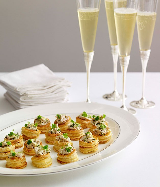 "[**Champagne chicken vol-au-vents**](https://www.gourmettraveller.com.au/recipes/browse-all/champagne-chicken-vol-au-vents-8673|target=""_blank"")"