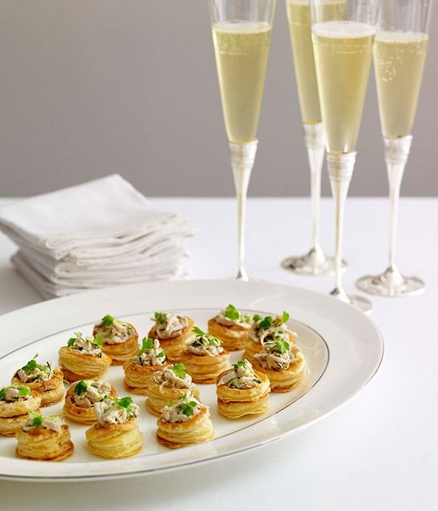 """[**Champagne chicken vol-au-vents**](https://www.gourmettraveller.com.au/recipes/browse-all/champagne-chicken-vol-au-vents-8673