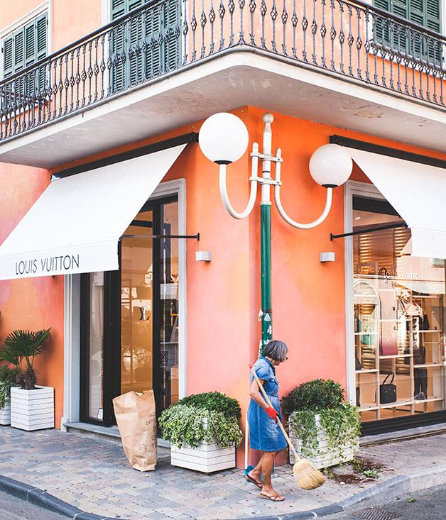 **Louis Vuitton** The Louis Vuitton store at Forte dei Marmi, which also holds a weekly fashion market.