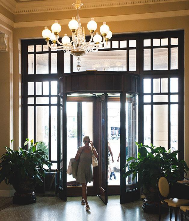 **Lobby** Lobby of the Grand Hotel Principe di Piemonte.