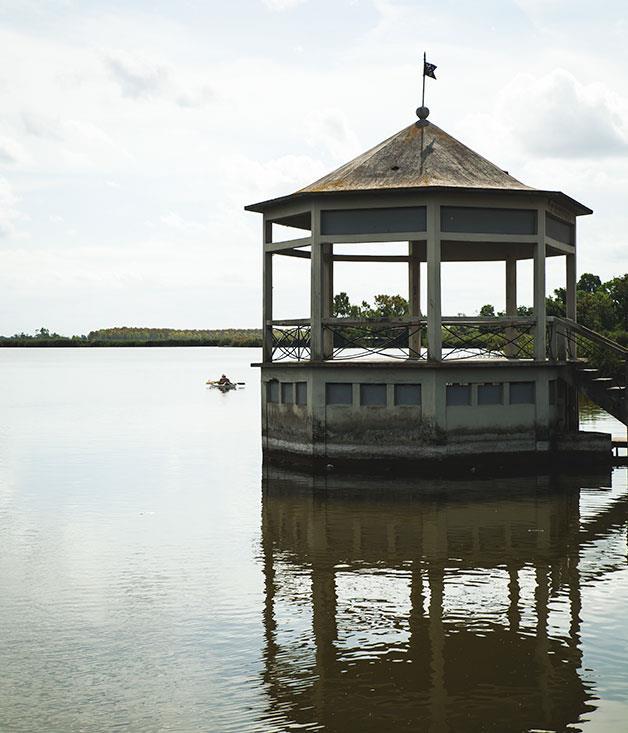 **Lake Massaciuccoli** Coastal lake of Versilia, Lake Massaciuccoli.