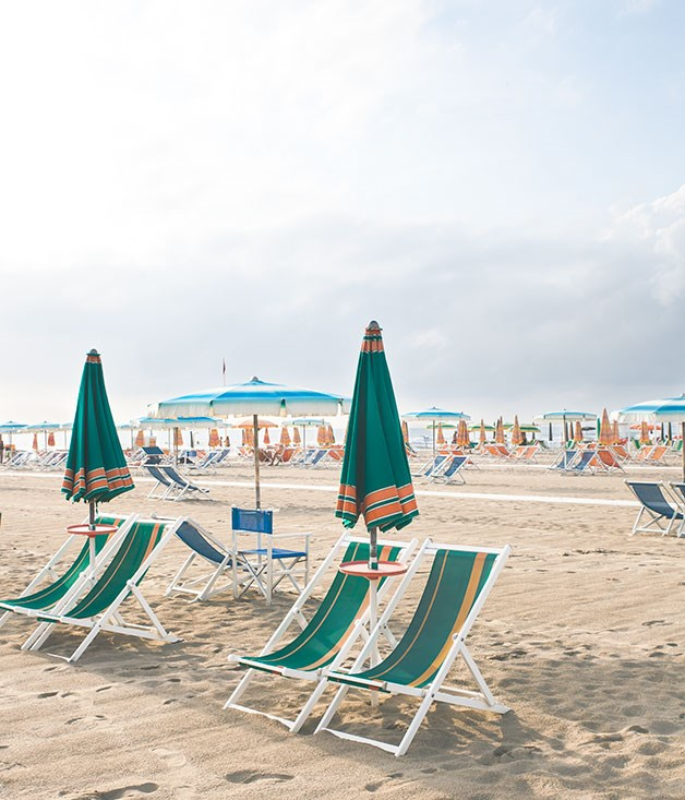 **Beach** Sit back on the beach at Viareggio.