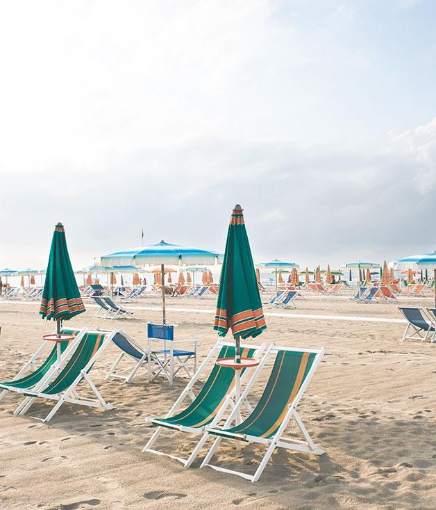 **Beach** Sit back on the beach at Viareggio.