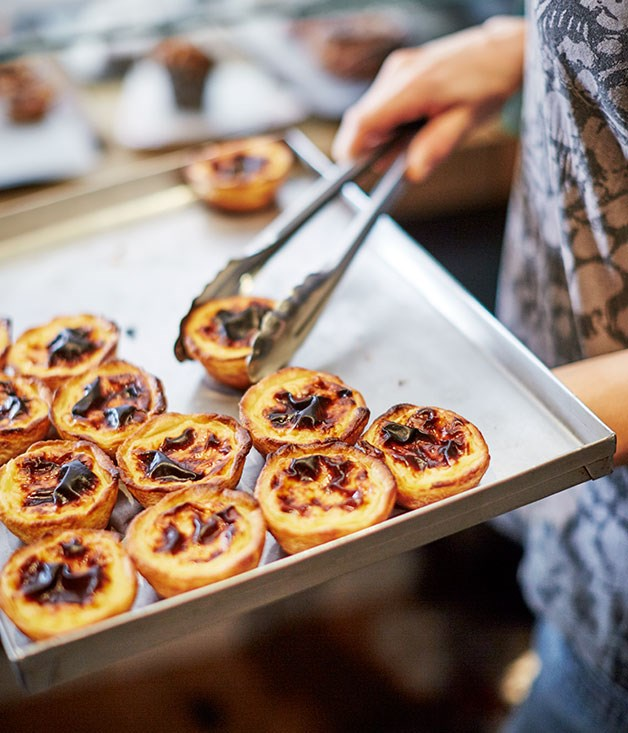 **Portuguese custard tarts** Portuguese custard tarts at Jason Bakery