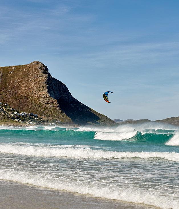 **Kitesurfing at Misty Cliffs** Kitesurfing at Misty Cliffs