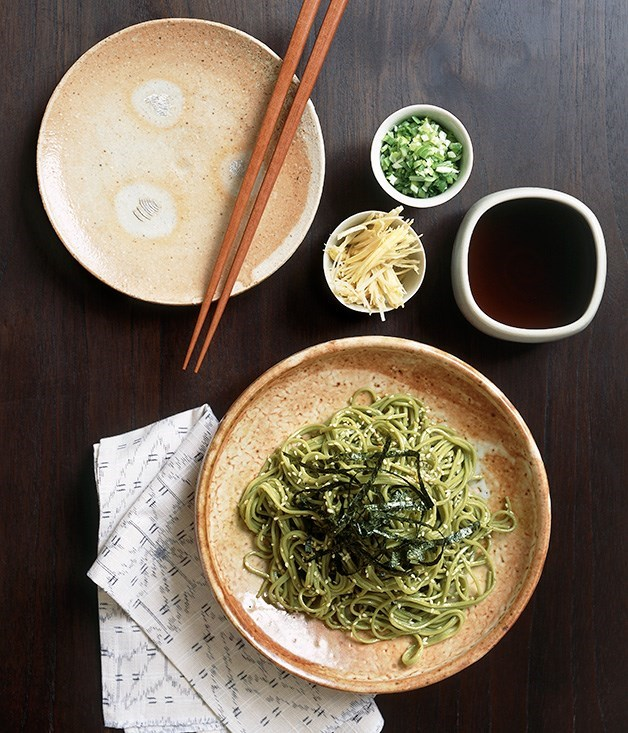 **Cha soba noodles with traditional accompaniments**