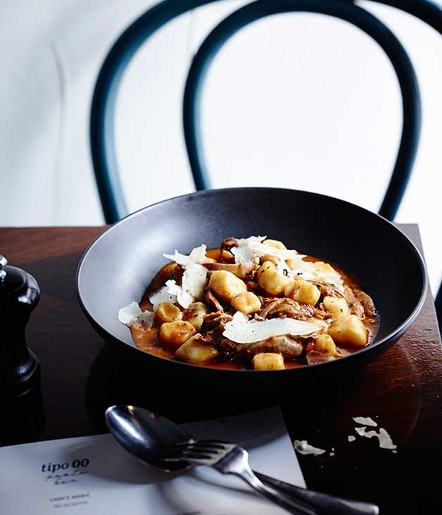 "**[Gnocchi with duck ragù and porcini mushrooms](https://www.gourmettraveller.com.au/recipes/chefs-recipes/gnocchi-with-duck-ragu-and-porcini-mushrooms-8407|target=""_blank"")**"