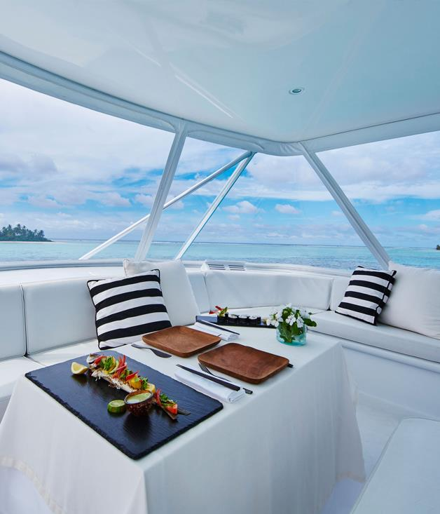 **Como afloat** Como fans, meet Cameron. The élite resort and hotel group has launched the live-aboard yacht to complement its two resorts in the Maldives, Cocoa Island and Maalifushi.  The three-cabin 21-metre yacht will ply the waters between Maalifushi in Thaa Atoll and Cocoa Island's 33 overwater bungalows in the South Malé Atoll, with a night on board en route. Overnight charter costs a not-insubstantial $22,000.      _[comohotels.com](http://www.comohotels.com)_