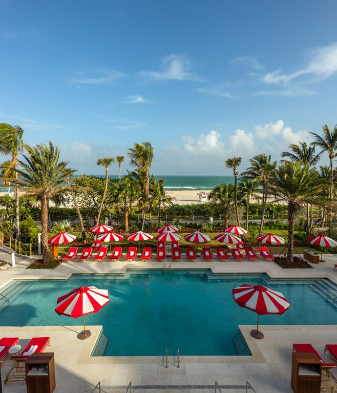 "**Miami's golden age** It's no coincidence the interiors of the new Faena Hotel Miami Beach look much like a movie set from Hollywood's golden age. That's exactly what Argentinian hotelier Alan Faena dreamed of when he hired Australian cinematic duo Baz Luhrmann and Catherine Martin to ""develop the narrative"" of his 169-room, 13-penthouse property. Hence the seashell-encrusted columns and Damien Hirst's gilded woolly mammoth skeleton on the patio of Los Fuegos restaurant. And the lavishly frescoed entrance, the onyx lobby bathrooms and the exquisite Tierra Santa spa, with its Turkish hammam and ""healing rituals"" steeped in pre-Columbian spirituality. The hotel is the showpiece of the $1.32 billion gentrification of six unloved Miami Beach blocks into Faena District, a cultural precinct also starring Sir Norman Foster (he did the 18-storey apartment block Faena House) and Rem Koolhaas (a retail precinct, Faena Bazaar, and a new cultural centre, Faena Forum; see more page 141). Let the show begin.      [faena.com ](http://www.faena.com)"