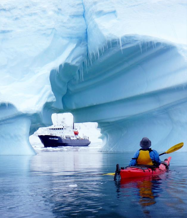 **Taking cruising to extremes** The trickle of daring shore excursions on polar cruises - snowshoeing, sea-kayaking, scuba-diving and hiking - is becoming a flood. Aurora Expeditions tested the waters with Antarctic snorkelling; Quark Expeditions with hot-air ballooning near the North Pole; Ponant has a sub-Antarctic hike for the fit and adventurous on Campbell Island; and Adventure Smith Explorations recently introduced mountaineering, using crampons and ice axes, on an Antarctic glacier. And this northern summer Aurora Expeditions launches snorkelling on the edge of the Arctic icepack in Greenland and Spitsbergen. Brrr.
