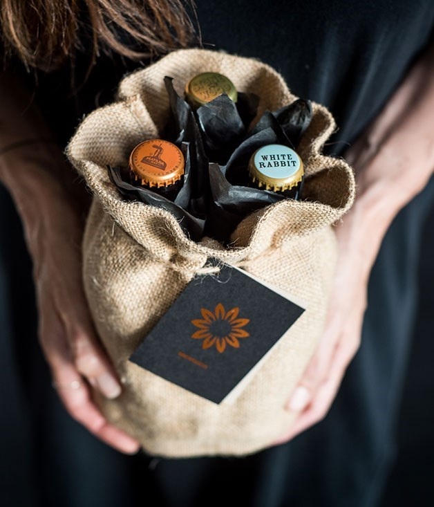 **GIFT: Craft beer bouquet** For $35, including delivery, new Sydney start-up Brewquets will deliver three craft beers wrapped, bouquet fashion, in tissue paper and tied in a hessian bag with a handwritten note. Each week, Brewquets' founder, Anna Jackson, chooses three of her current favourite Australian craft beers from both established and smaller, local brewers.  [brewquets.com.au](file:///C:/Users/ASaaib/Desktop/brewquets.com.au)