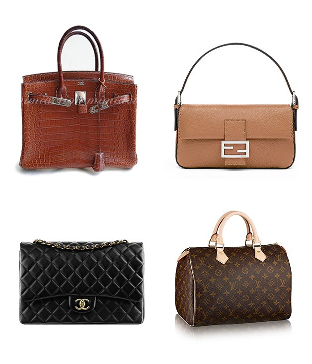 """**Get it to go** **1\. Hermès Birkin bag - 1984**  A happy accident involving Jane Birkin and the chief exec of Hermès on a flight to London resulted in the Birkin bag. Bigger than a Kelly, smaller than Serge's suitcase and the ultimate status symbol.  **2\. Silvia Venturini Fendi, Fendi Baguette bag - 1997**  The designer was asked to create something """"easy and functional"""", but Fendi notes she is """"indomitably disobedient"""". Designed to be carried under the arm like its namesake, the Baguette's popularity was helped along by multiple appearances on _Sex and the City_.  **3\. Louis Vuitton Speedy bag - 1930**  This practical bag seems to be a wardrobe staple for fashionable women around the world. LV even made a smaller version for Audrey Hepburn and both are still manufactured today.  **4\. Chanel 2.55 Flap bag - 1954**  Thank Chanel for the introduction of ladies bags with shoulder straps. The first design came out in 1929, but she tweaked and reissued the bag in 1955, dubbing it the 2.55.  _Image credits:Wen-Cheng Liu, CC by SA 2.0. Chanel.com. Fendi.com. Louisvuitton.com_"""