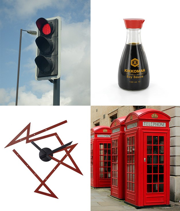 **Seeing red** **1\. David Mellor, English traffic light system - 1965**  He was famous for many things but England's national traffic light system is his most ubiquitous design. And yes, there are still around - around 25,000 of them are in use today.  **2\. Kenji Ekuan, Kikkoman soy sauce bottle - 1961**  Your sushi may have prevented you from noticing the timeless design of the Kikkoman bottle but take a closer look next time and remember that the deign hasn't changed for over 50 years.  **3\. Sir Giles Gilbert Scott, K2 red telephone box - 1924**  The design of the iconic red telephone box the world now so associates with English sidewalks was actually the result of a competition to find something boroughs would actually adopt, as opposed to the earlier K1 model.  **4\. Daniel Libeskind, Alessi Time Maze wall clock - 2016**  Libeskind is definitely a fan of the zig zag. Referencing his architecture, the time maze makes a statement by taking on the angles of a broken line and, well, going a bit crazy, forming a clock that is completely the opposite of solid and round.  _Image credits:M0tty, Unisouth GNUL. Creative Tools, CC by 3.0. Courtesy Alessi._