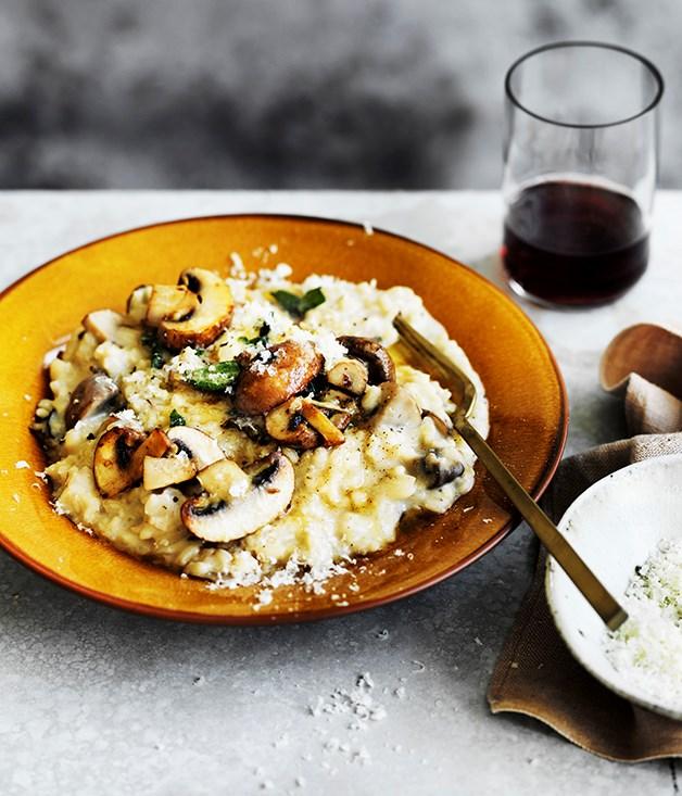 Mushroom and mascarpone risotto