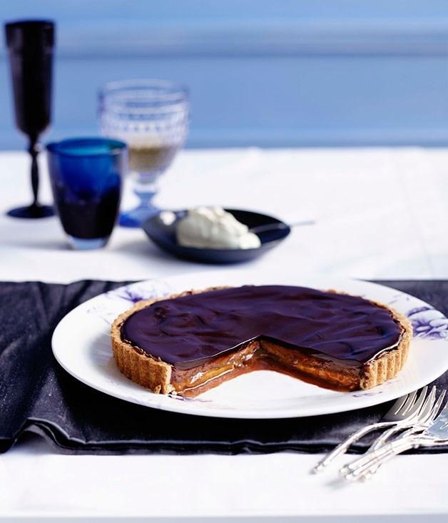 **Chocolate and caramel tart**