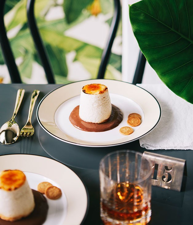 "[**Malt beer floating islands with macadamia and chocolate wheat cream**](https://www.gourmettraveller.com.au/recipes/chefs-recipes/malt-beer-floating-islands-with-macadamia-and-chocolate-wheat-cream-9236|target=""_blank"")"