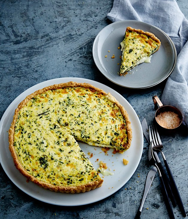 Goat's cheese and herb quiche