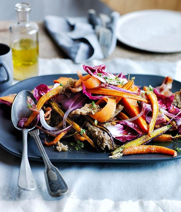 "**[Warm roast carrot and parsnip salad with rye croutons](http://www.gourmettraveller.com.au/recipes/browse-all/warm-roast-carrot-and-parsnip-salad-with-rye-croutons-12225|target=""_blank"")**"