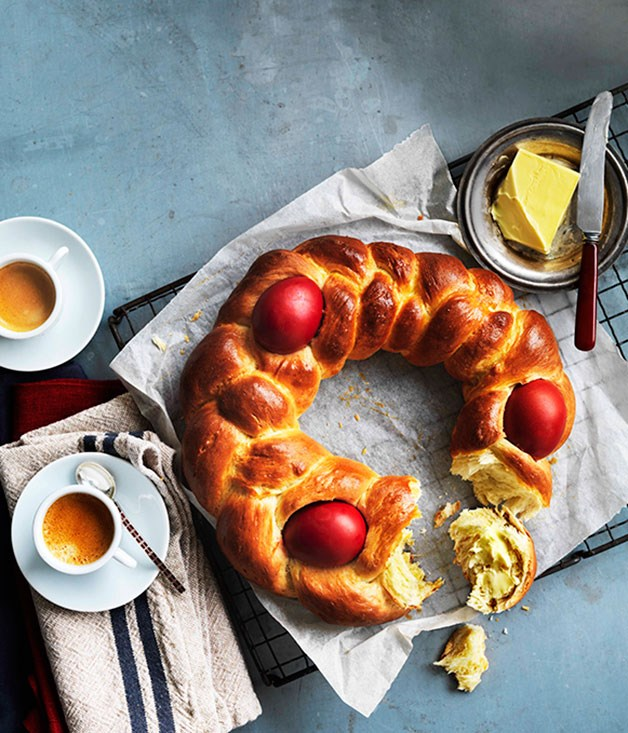 """**[Orthodox Greek Easter recipes](https://www.gourmettraveller.com.au/recipes/recipe-collections/greek-easter-recipes-15015 target=""""_blank"""")**   From tsoureki to galaktoboureko and lots of lamb, consider your Orthodox Easter sorted."""