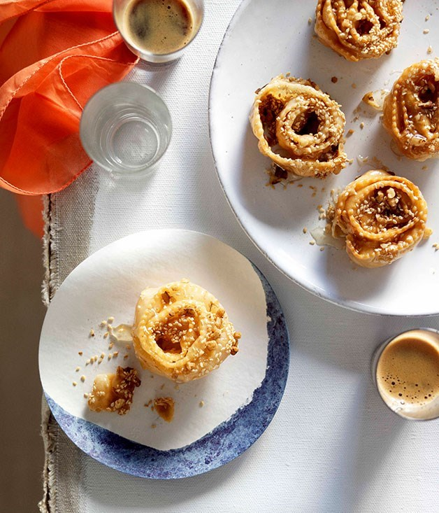 **XEROTIGANA** Traditionally, these classic honey syrup-soaked pastries from Crete are given to guests after a wedding, but they're perfect for Easter celebrations too.