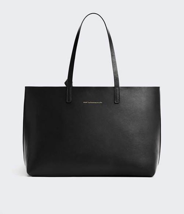 **Want les Essentiels Strauss tote** A handbag stays by your side throughout a whole number of trips and events, so best make it a classic like this sleek leather Strauss tote. The bag has a removable zippered clutch insert, too, so it nails versatility and fashion in one fell swoop. _$1,285, available at incu.com_