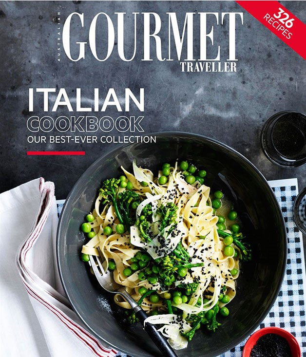 **Gourmet Traveller Italian cookbook** From braised rabbit with sauce pearà to slow-roasted lamb shoulder with baked ricotta and green olives - Mum can try her hand at all her favourite Italian recipes with help from the latest Gourmet Traveller cookbook. There are 326 dishes to choose from. _$12.95, pbk._