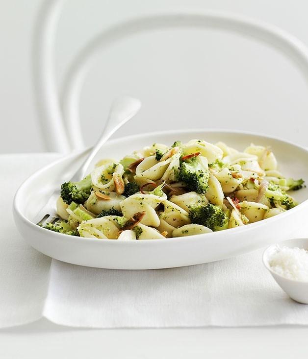 **Broccoli, lemon and almond orecchiette**