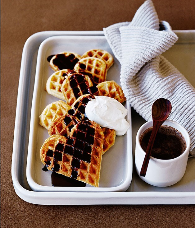 "[**Waffles with chocolate and pedro ximénez sauce**](https://www.gourmettraveller.com.au/recipes/fast-recipes/waffles-with-chocolate-and-pedro-ximenez-sauce-9404|target=""_blank"")"