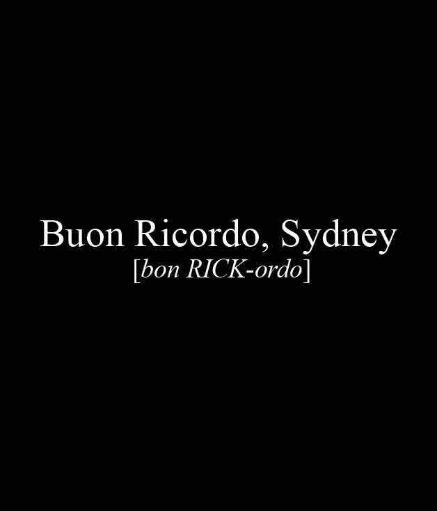 **** Buon Ricordo, 108 Boundary St, Paddington, (02) 9360 6729, [buonricordo.com.au](http://buonricordo.com.au/)  [_Read our review of Buon Ricordo here._](http://www.gourmettraveller.com.au/restaurants/restaurant-guide/restaurant-reviews/b/buon/buon-ricordo/)