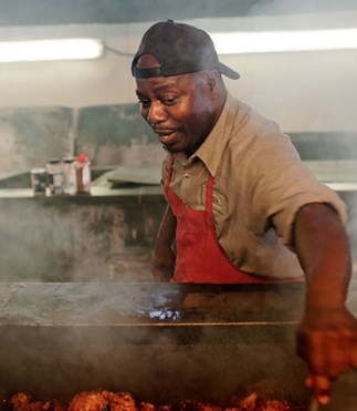 Barbecue master Rodney Scott fires up at Harpoon Harry