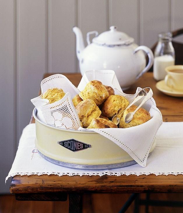 "[**Pumpkin and cinnamon scones**](https://www.gourmettraveller.com.au/recipes/fast-recipes/pumpkin-and-cinnamon-scones-9400|target=""_blank"")"