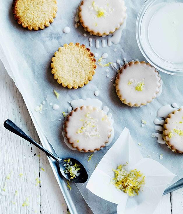 "[**Lemon-glazed biscuits**](https://www.gourmettraveller.com.au/recipes/browse-all/lemon-glazed-biscuits-11287|target=""_blank"")"